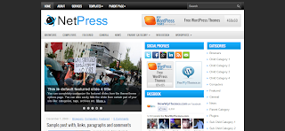NetPress Wordpress Template Is a Clean And Simple Tech Wp Blog