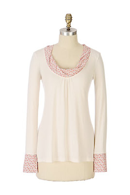 Anthropologie Peppermint Mallow Tee
