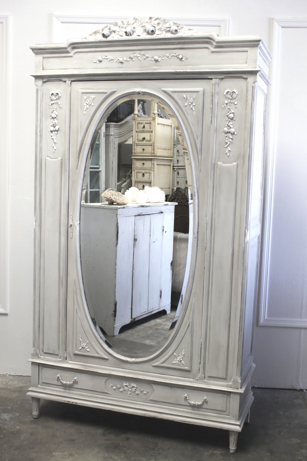 full bloom cottage antique french armoire vintage arched bookcase new inventory. Black Bedroom Furniture Sets. Home Design Ideas