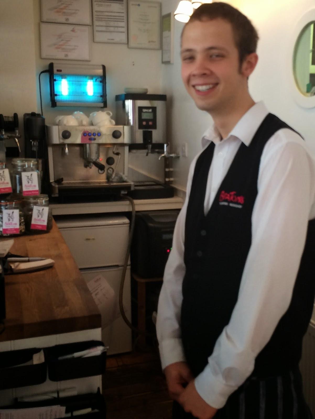 Ben Moxham grinning at Beatons Tisbury