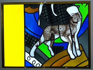 Alberola / Duchemin, détail d'un vitrail de la cathédrale de Nevers