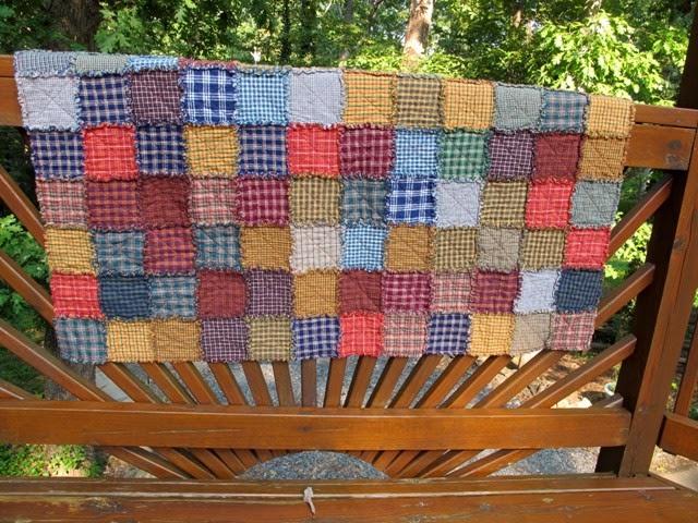 Snug Harbor Quilts: Snuggly Homespun Plaid Rag Quilts : homespun quilts - Adamdwight.com