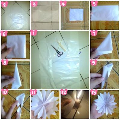 Bikin Bunga Dari Kantong Plastik Tahap 1: Siapkan kantong plastik ...