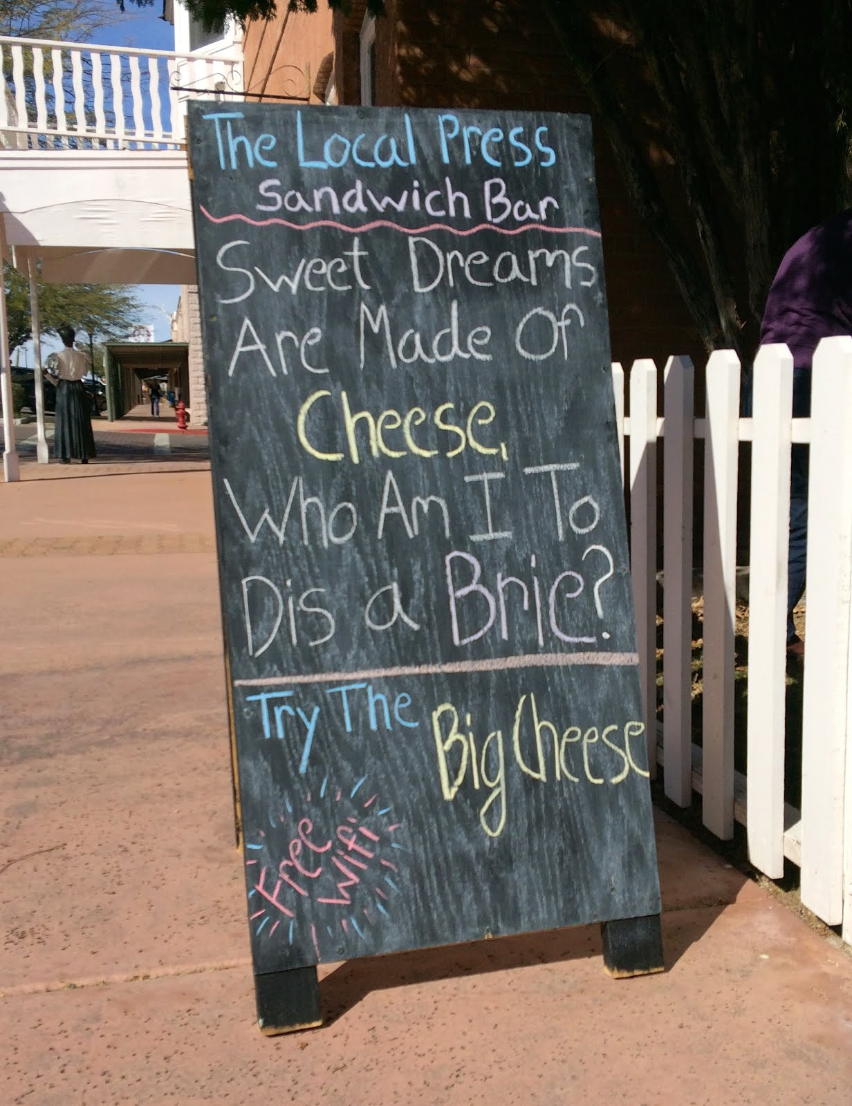 Cheesey Sign is Punny and Funny.