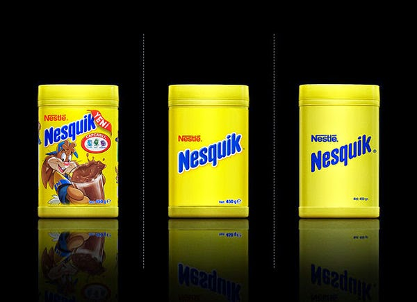 Nesquik bared Packaging design