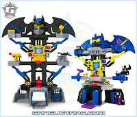 Imaginext DC Super Friends blue grey Batman Transforming Batcave イマジネックスト アメコミ バットマン