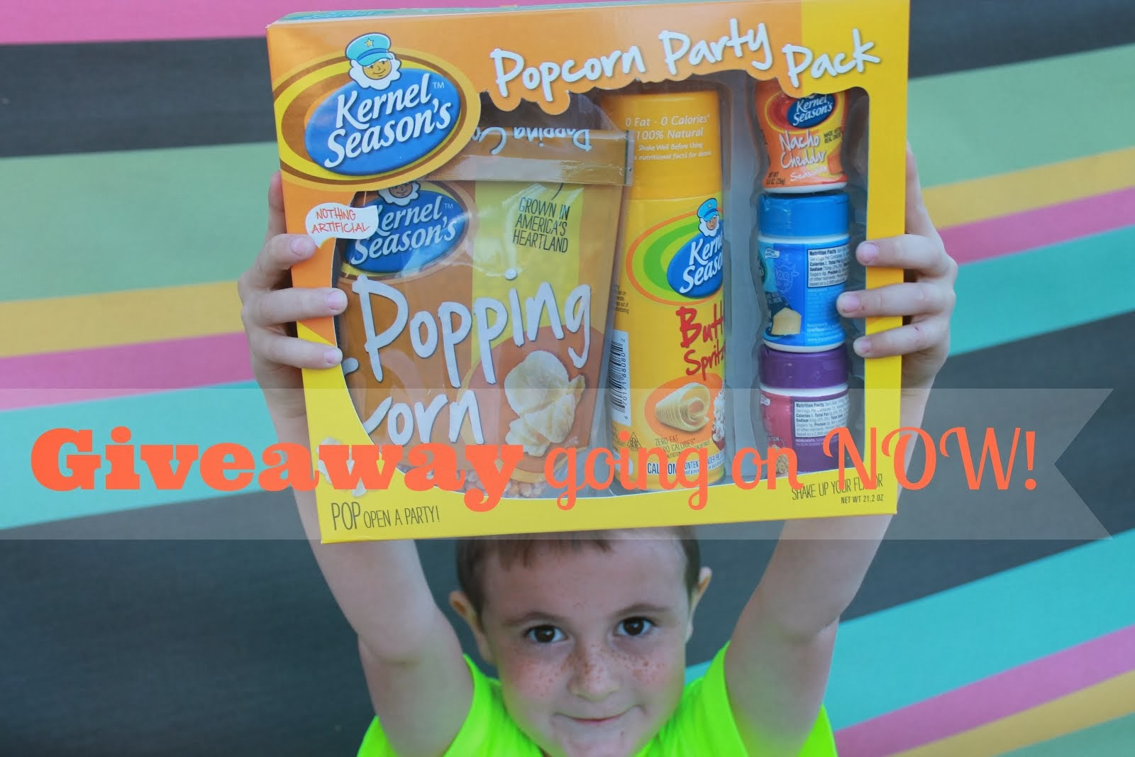 A chance to WIN Free Popcorn Party Pack!