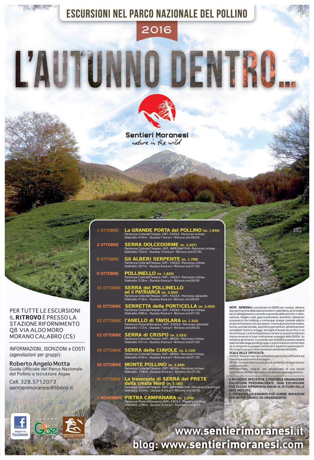 Calendario attività autunno 2016
