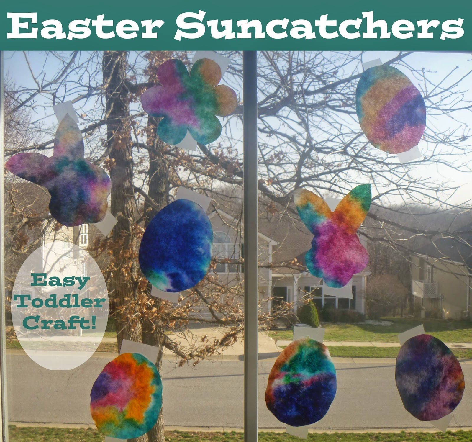 Easter Suncatchers: Easy Toddler Craft with Coffee Filters