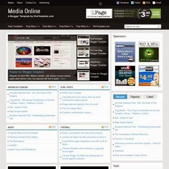 Media Online - Template Blogspot tin tức hỗ trợ Adsense tối đa
