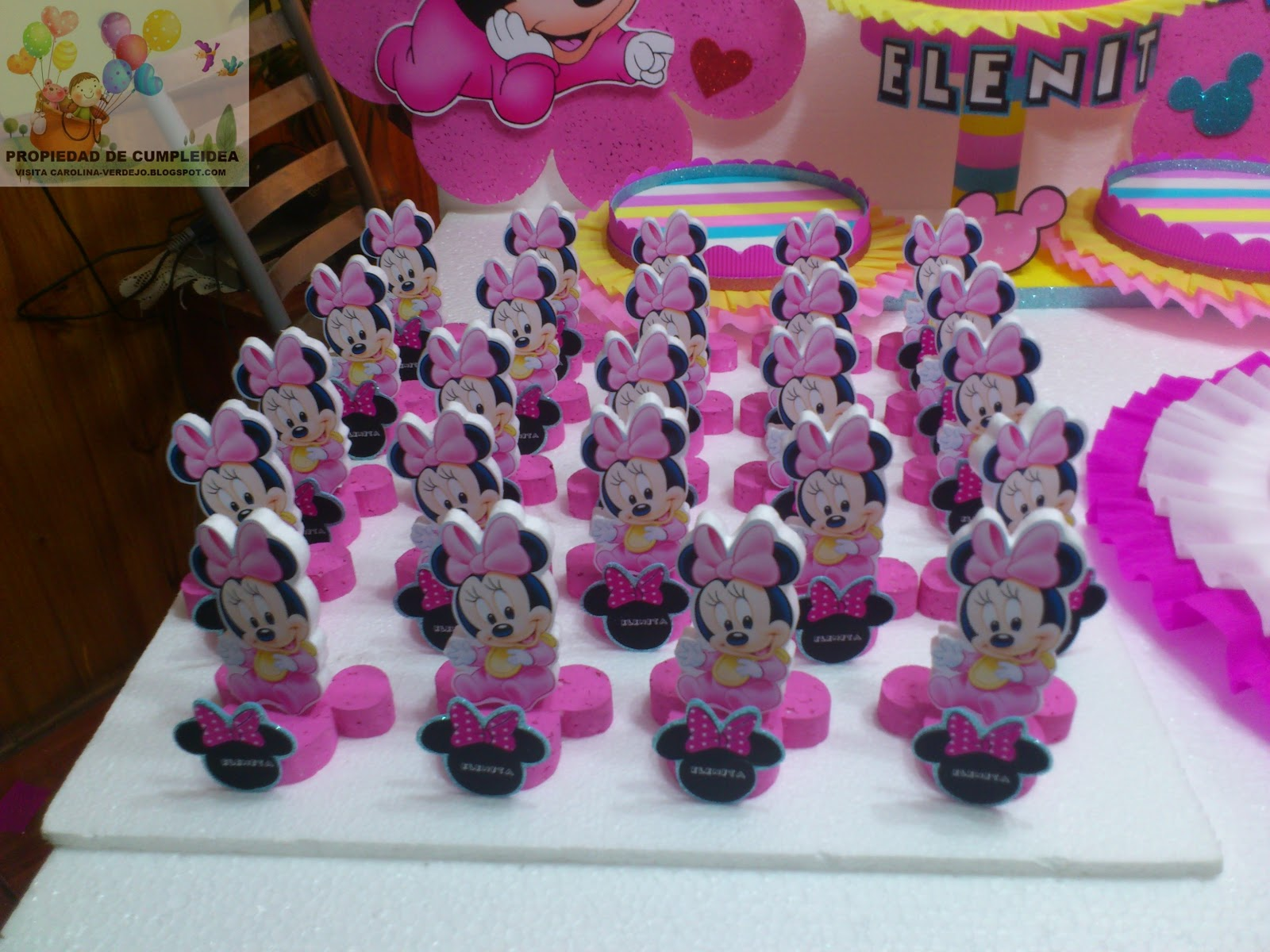 Decoracion Minnie Bebe ~ DECORACIONES INFANTILES PACK MINNIE BEBE