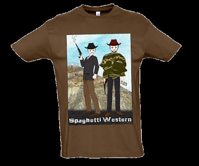 """Camiseta manga corta para hombre """"Bang Bang"""" color marrón"""