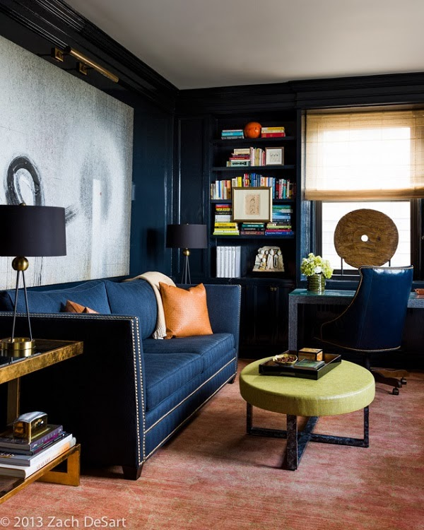 30 Incredible Home Office Den Design Ideas: Mix And Chic: Cool Designers Alert- Celerie Kemble And