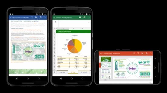 تطبيقات أوفيس لهواتف أندرويد متاحة بنسخة نهائية