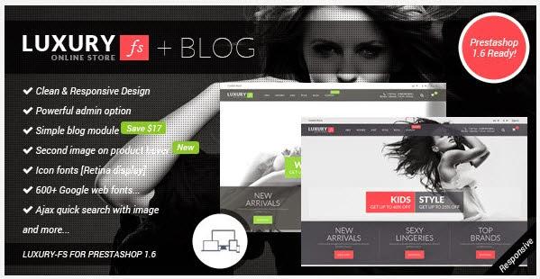 Prestashop 1.6 Theme + Blog