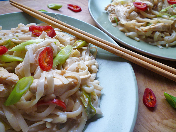 Chilli Coconut Chicken with Noodles Recipe
