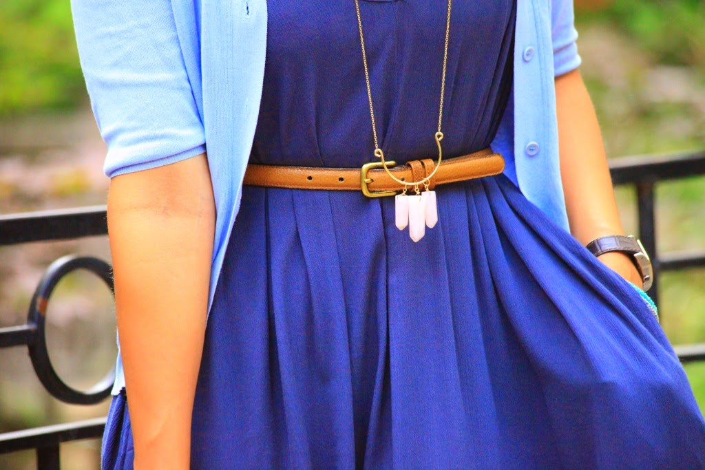 Maxi / Earrings / Necklace / Bracelets / Scarf -  c/o Lou Lou Boutiques Rings - Crazy & Co.  Cardigan - Calvin Klein Collection Belt - Coach Shoes - ASOS Bag - Mulberry Tanvii.com