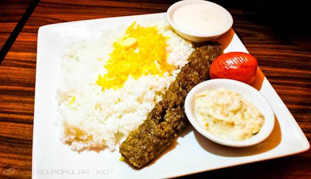 Persia Grill's Beef Kebab Student Value Meal