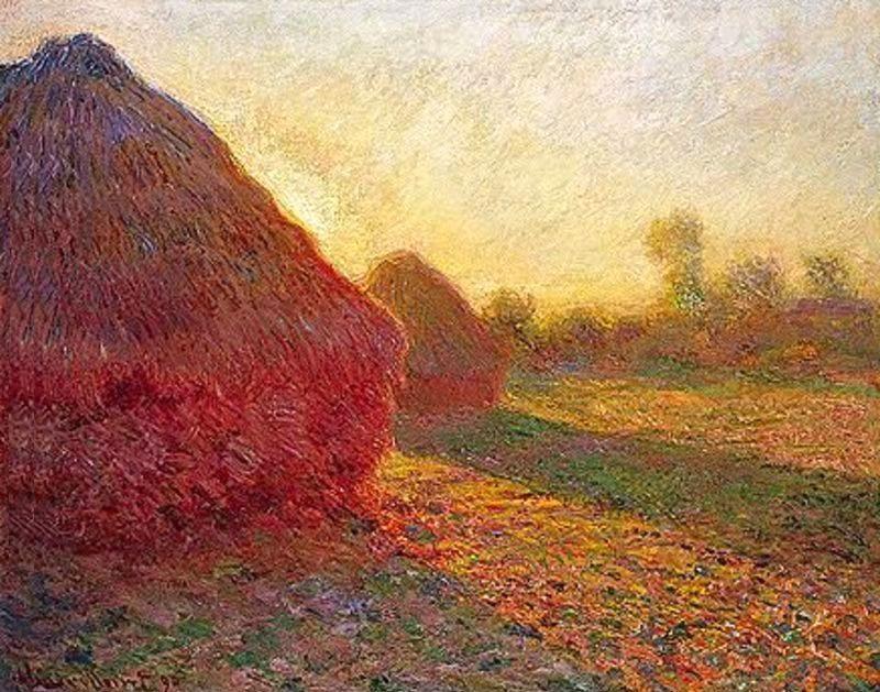 Claude Monet Meules, Derniers Rayons De Soleil.