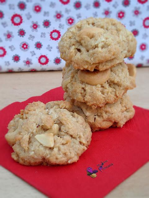 anacardos, coco, coco y anacardos, galletas, galletas de anacardos, galletas de coco, galletas de coco y anacardos, reto 101,