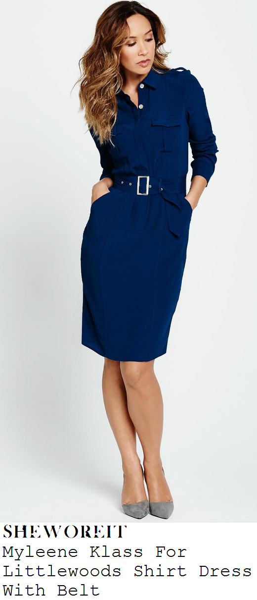 myleene-klass-navy-blue-long-sleeve-button-up-belted-shirt-dress