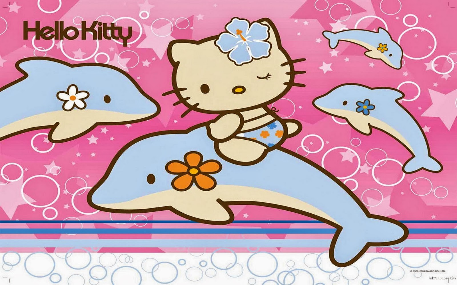 Must see Wallpaper Hello Kitty Strawberry - 20000123-Hello%2BKitty%2Bwith%2BDolphin%2BHD%2BWallpaperz  Pictures_159498.jpg