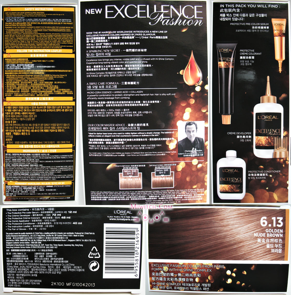loreal excellence hair colour instructions