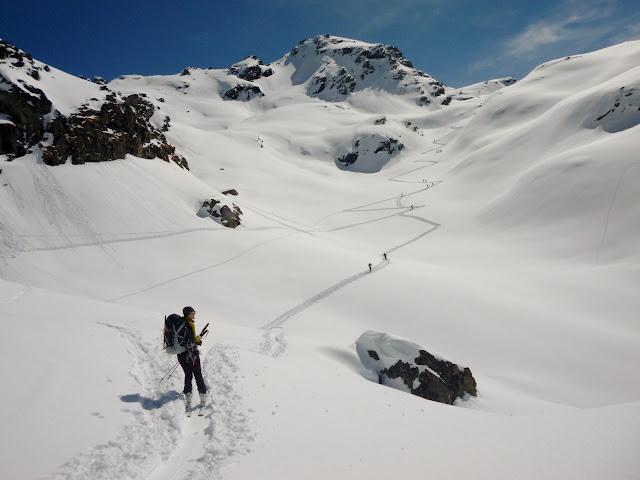 Travesia esqui de montaña:Chamonix-Zermatt:Vervier-Cabaña Prafleuri
