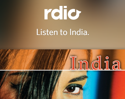 Rdio brings Free Internet Radio player for Indian mobiles