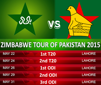 Pakistan vs Zimbabwe Cricket 2015 Schedule