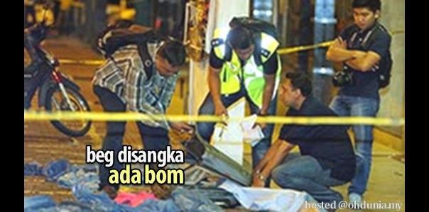 Beg Yang Ditinggalkan Di Medan Tuanku Disangka Ada Bom !..