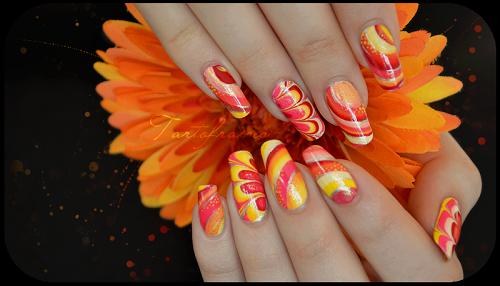 Orange Summer Nail Designs