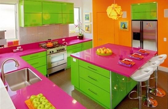 construindo minha casa clean quero minha cozinha rosa e agora veja 40 ideias. Black Bedroom Furniture Sets. Home Design Ideas