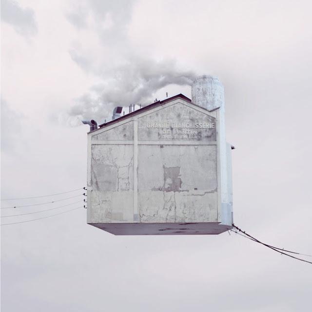 Casas,voladoras,Laurent Chehere,Fying,houses,francia,france,paris,19th, 20th,arrondissement,windows,ventanas