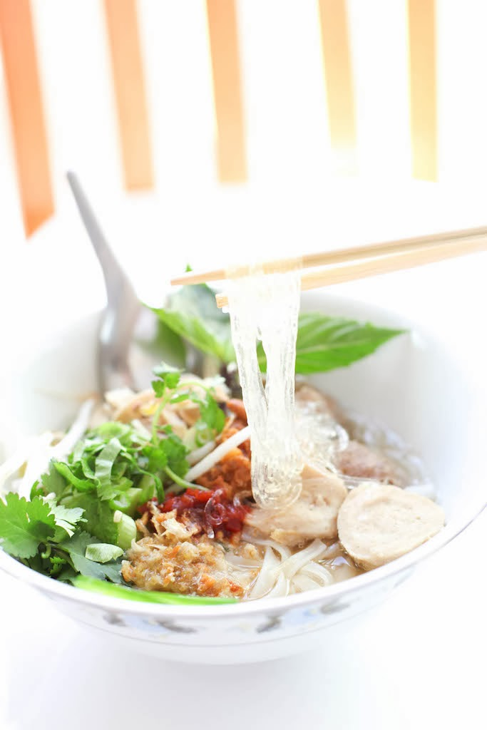 Turkey Neck Pho Noodle Soup | via Chandara Creative