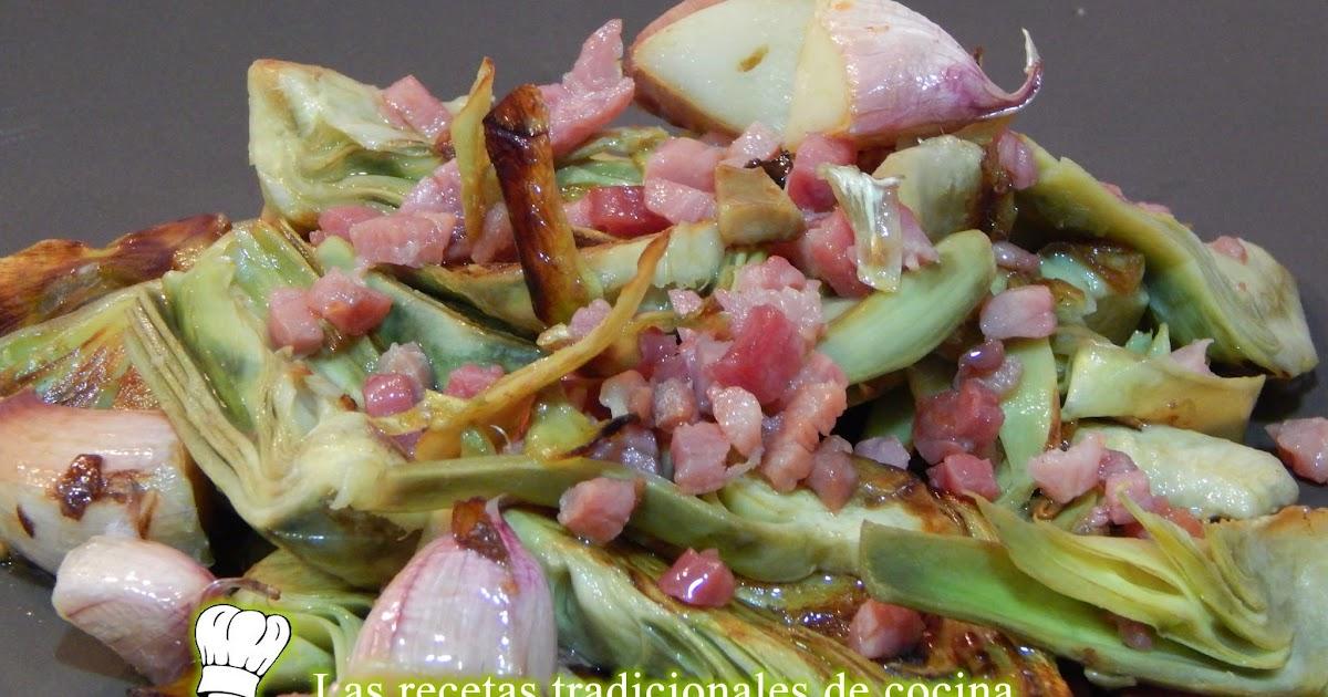 C mo hacer alcachofas salteadas con jam n recetas de - Como hacer alcachofas en salsa ...