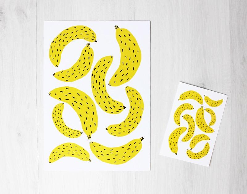 Banaaniprintti lastenhuoneeseen