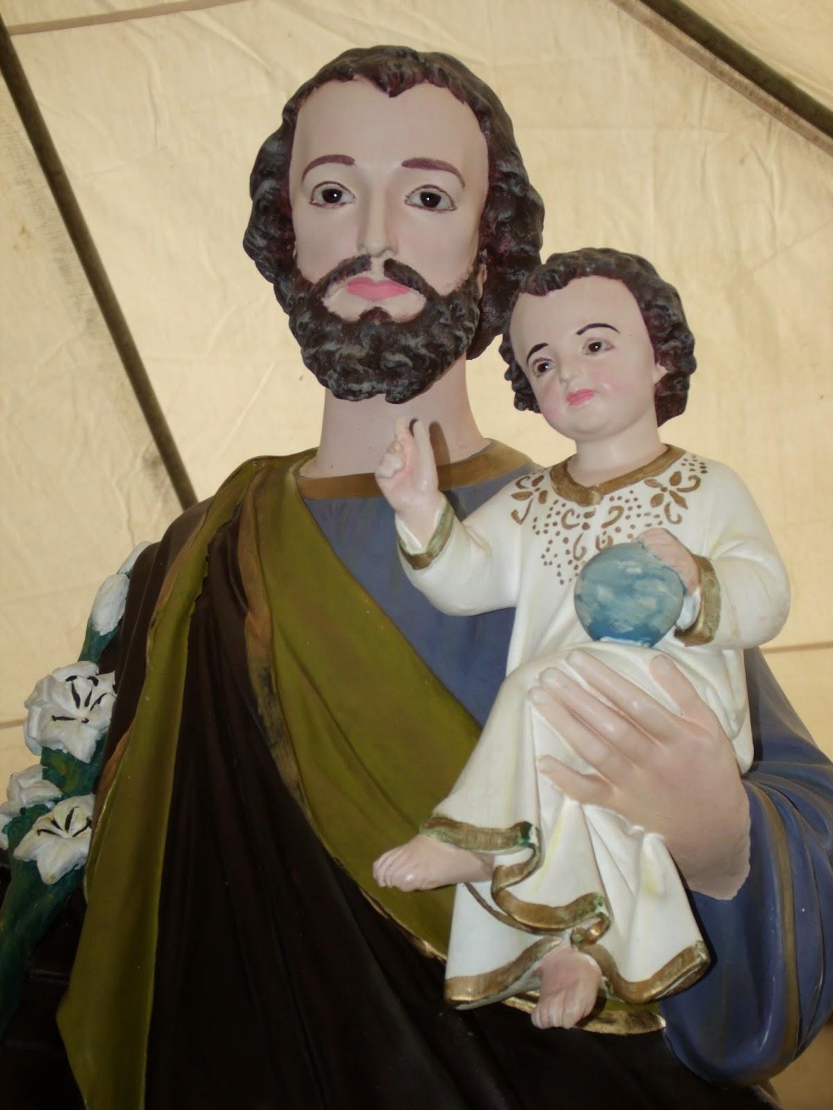 Imagens da procissão e Missa de encerramento da festa de São José