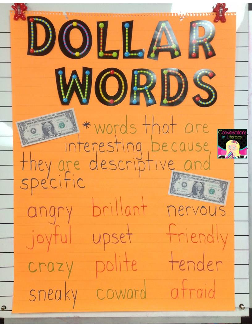 Conversations in Literacy: Penny Words and Dollar Words