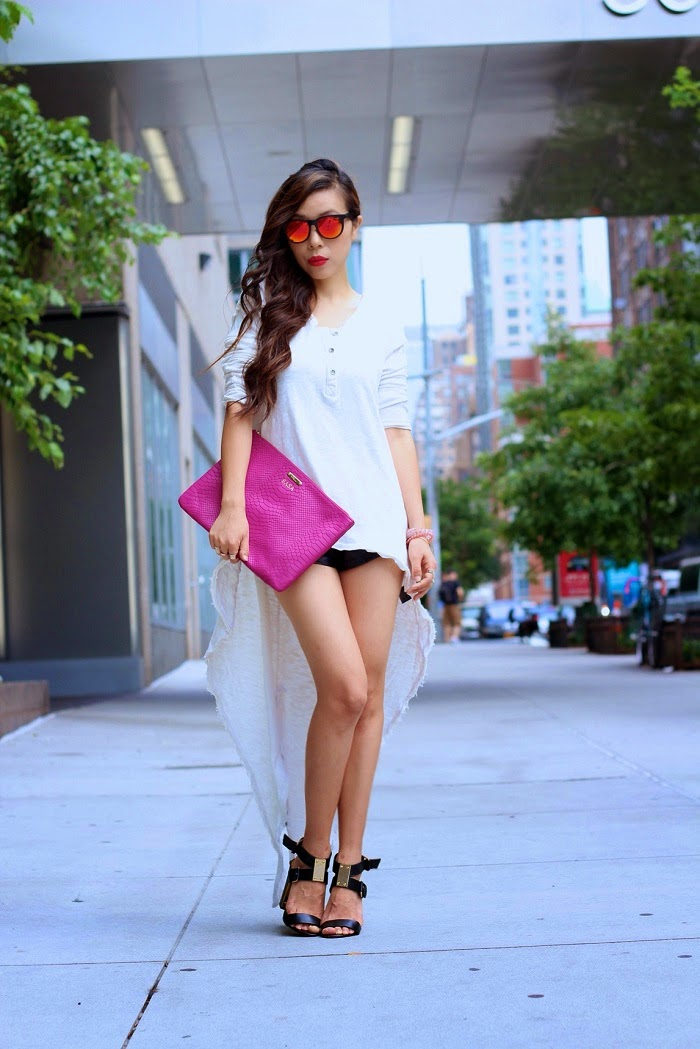 Truly madly deeply high low top, urban outfitter, nastygal, gigi new york, Crap eyewear, reflective sunglasses, magenta,nyc,streetstyle,nyc,tedbaker, dolcevita,sandals,stevebystevemadden,hair,highlight,casualweekend,shallwesasa
