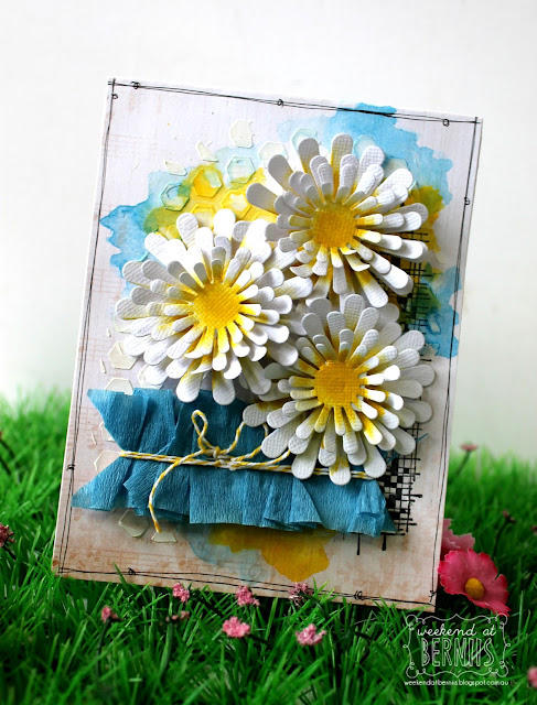 """Aster"" die card by Bernii Miller for Couture Creations from the Floral Layers collection."