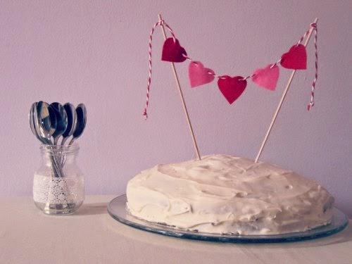 Presentación carrot cake o tarta de zanahoria