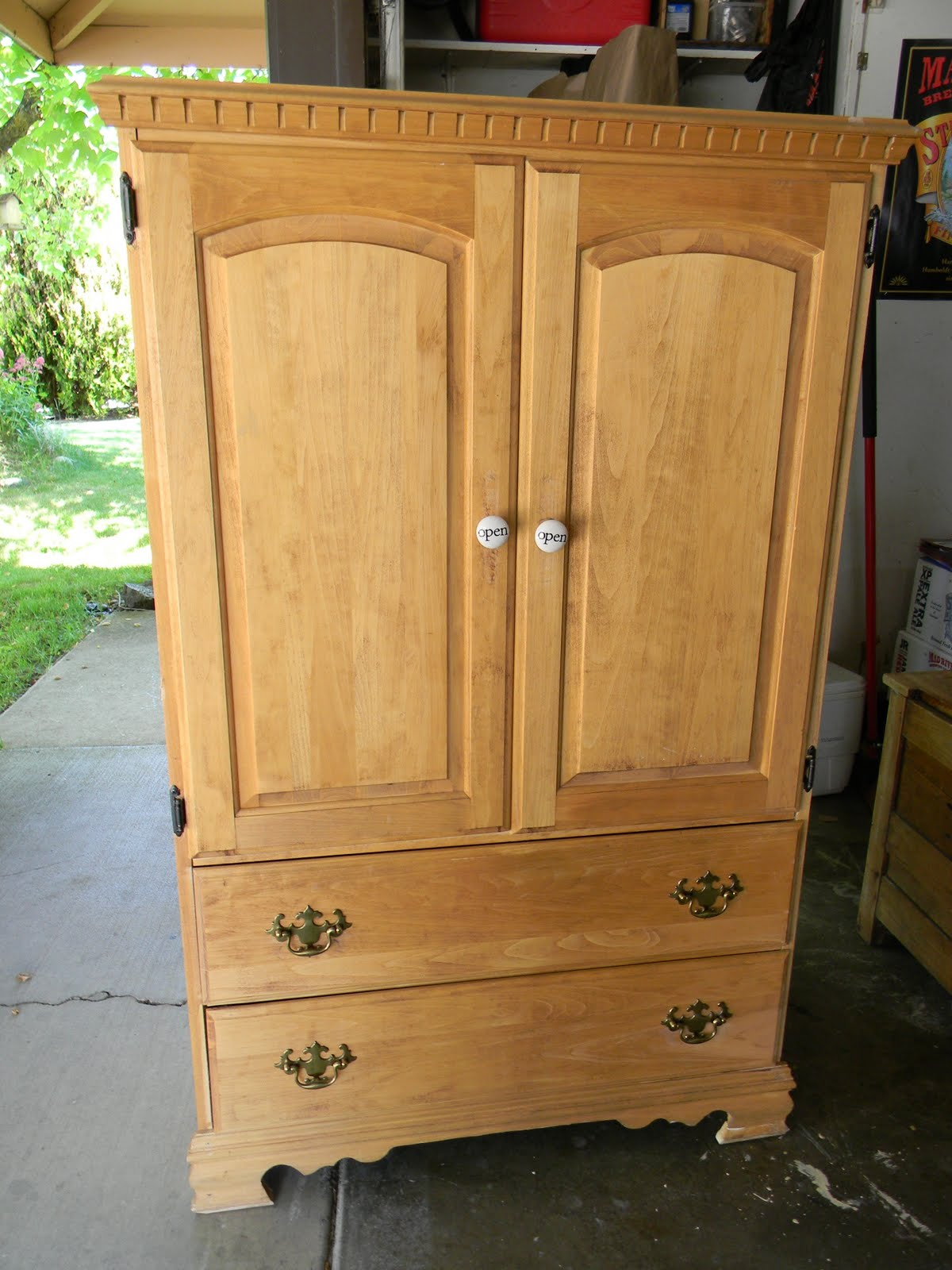 emily 39 s up cycled furniture shabby chic armoire before. Black Bedroom Furniture Sets. Home Design Ideas