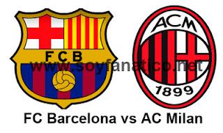 Vuelta Barcelona vs Ac Milan Champions 2013
