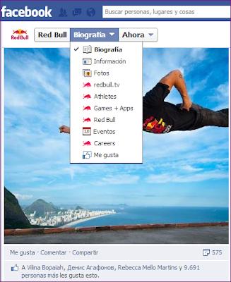 Estrategia de Red Bull en Facebook