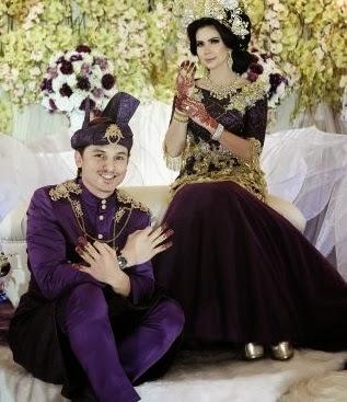 Rozita Che Wan & Zain Saidin malam berinai, gambar che ta dan zain selepas berinai