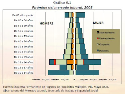 Honduras - Pyramid Chart of the Labor Market 2008