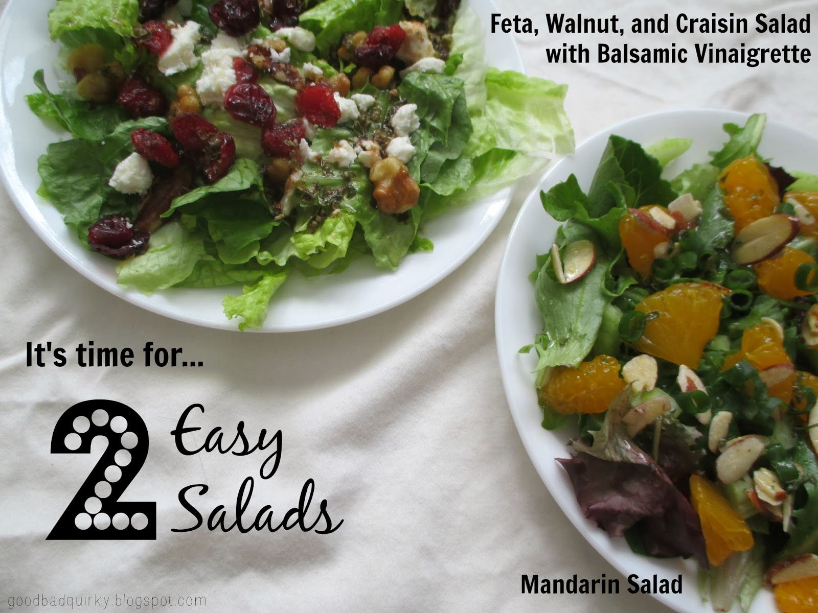 2 easy salad recipes