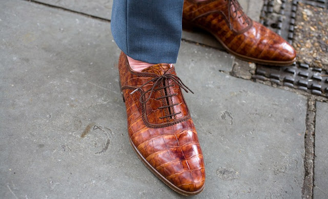 street style london collections men menswear snakeskin shoes