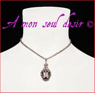collier elfique féerique papillon mariage violet améthyste elfe fée fairy elven butterfly wedding necklace